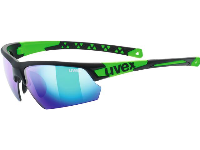 UVEX Sportstyle 224 Glasses, black mat green/green